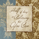 Half of Doing is Believing