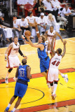 Dallas Mavericks v Miami Heat - Game One  Miami  FL - MAY 31: Dirk Nowitzki and Udonis Haslem