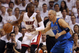 Dallas Mavericks v Miami Heat - Game Two  Miami  FL - JUNE 02: Dwyane Wade and Jason Kidd