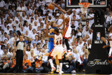 Dallas Mavericks v Miami Heat - Game Two  Miami  FL - JUNE 2: Dwyane Wade and Dirk Nowitzki