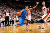 Dallas Mavericks v Miami Heat - Game One  New York  FL - MAY 31: Jose Barea and Mike Miller