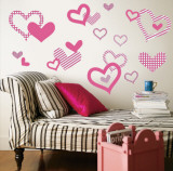 Light Pink Pattern Hearts