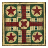 Small Antique Parcheesi