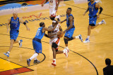 Dallas Mavericks v Miami Heat - Game Two  Miami  FL - JUNE 2: LeBron James and Jason Terry