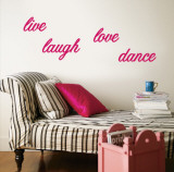 Live  Laugh  Love  Dance - Pink