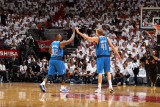 Dallas Mavericks v Miami Heat - Game One  Miami  FL - MAY 31: Dirk Nowitzki and DeShawn Stevenson