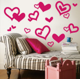 Bright Pink Hearts