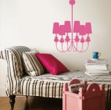 Light Pink Modern Chandelier