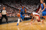 Dallas Mavericks v Miami Heat - Game One  Miami  FL - MAY 31: Jason Terry and Mario Chalmers