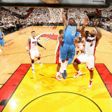 Dallas Mavericks v Miami Heat - Game One  Miami  FL - MAY 31: Jason Terry and LeBron James