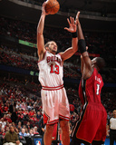 Miami Heat v Chicago Bulls - Game Five  Chicago  IL - MAY 26: Joakim Noah and Chris Bosh