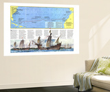 Where Did Columbus Discover America  Map 1986