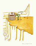 Petit Prince Fetching Water Reproduction d'art par Antoine De Saint-Exupéry
