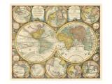 Antique World Globes Reproduction d'art