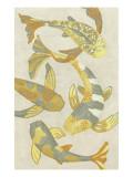 Golden Koi II Reproduction d'art par Chariklia Zarris