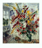 Bouquet à la fenêtre Reproduction d'art par Marc Chagall