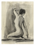 Sumi-e Figure I Reproduction d'art par Ethan Harper