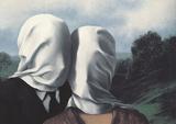 Les Amants (Lovers) Reproduction d'art par Rene Magritte