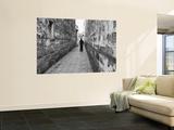Man Standing in Narrow Alleyway  Tongli  Jiangsu  China