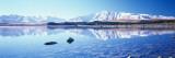 Mountain Range at the Lakeside  Two Thumb Range  Lake Tekapo  Mackenzie Basin  South Island
