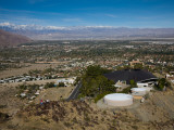 High Angle View of a Town in a Valley  Palm Springs  Riverside County  California  USA