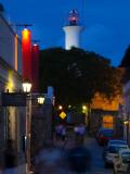 Lighthouse Lit Up at Dusk, Colonia Del Sacramento, Uruguay Papier Photo