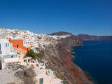 High Angle View of a Town on an Island  Oia  Santorini  Cyclades Islands  Greece