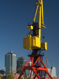 Low Angle View of a Cargo Crane  Puerto Madero  Buenos Aires  Argentina