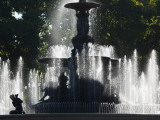 Fountain in a Park  General San Martin Park  Mendoza  Argentina