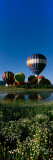 Reflection of Hot Air Balloons in a Lake  Hot Air Balloon Rodeo  Steamboat Springs  Routt County