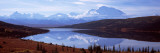 Reflection of a Mountain Range in a Lake  Mt McKinley  Wonder Lake  Denali National Park  Alaska
