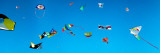 Low Angle View of Kites Flying  Bouches-Du-Rhone  France