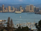 Harbor And City Viewed From Point Loma  Shelter Island Yacht Basin  San Diego  California  USA