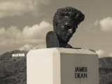 Bust of Actor James Dean  Griffith Park Observatory  Los Angeles  California  USA