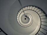 Spiral Staircase in a Lighthouse  Cabo Santa Maria Lighthouse  La Paloma  Rocha Department  Uruguay