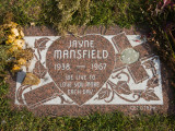 Tombstone of Jayne Mansfield in Hollywood Forever Cemetery  Santa Monica Boulevard  Hollywood
