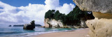 Rock Formations on the Beach  Cathedral Cove  Coromandel Peninsula  North Island  New Zealand