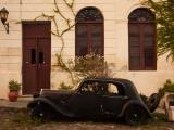 Vintage Car Parked in Front of a House  Calle De Portugal  Colonia Del Sacramento  Uruguay