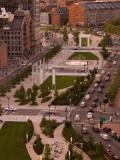 High Angle View of a City  Atlantic Avenue Greenway  Boston  Massachusetts  USA