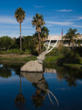 Mammoth Sculpture in a Pool  La Brea Tar Pits  Miracle Mile  Los Angeles County  California  USA