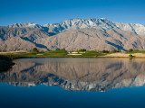Reflection of Mountains in a Pond  Desert Princess Country Club  Palm Springs