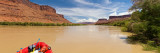 Inflatable Raft in a River  Colorado River  Grand County  Utah  USA