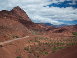 Road Passing Through Mountains  Quebrada De Cafayate Canyon  Salta Province  Argentina