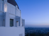 Observatory with Downtown at Dusk  Griffith Park Observatory  Los Angeles  California  USA