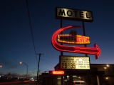 Low Angle View of a Motel Sign  Route 66  Kingman  Mohave County  Arizona  USA