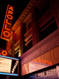 Low Angle View of a Theatre Lit Up at Night  Apollo Theater  Harlem  Manhattan  New York City