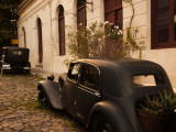 Vintage Cars Parked in Front of a House  Calle De Portugal  Colonia Del Sacramento  Uruguay