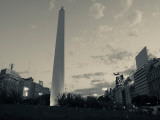 Low Angle View of a Monument  El Obelisco  Plaza De La Republica  Buenos Aires  Argentina