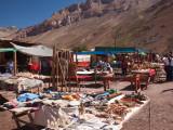 Tourist in a Flea Market  Puente Del Inca  Mendoza Province  Argentina