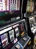 Slot Machines at an Airport  Mccarran International Airport  Las Vegas  Nevada  USA
